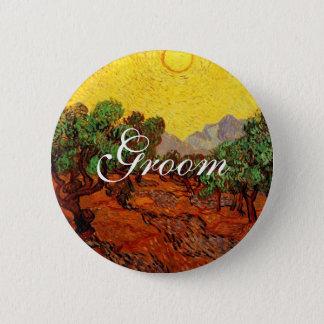 Hochzeiten, Olivenbäume Vincent van Goghs Runder Button 5,7 Cm