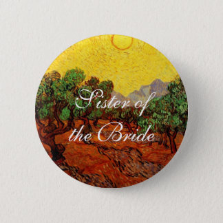 Hochzeiten. Olivenbäume Vincent van Goghs Runder Button 5,7 Cm