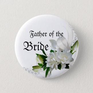 HochzeitGardenias Runder Button 5,1 Cm