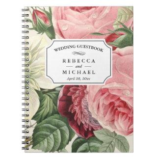 HochzeitGuestbook - Vintage botanische Blumen Spiral Notizblock