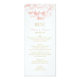 Hochzeits-Abendessen-Menü kardiert | korallenrote 10,2 X 23,5 Cm Einladungskarte