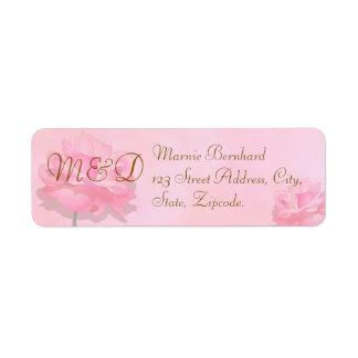 Hochzeits-Adressen-Etikett | ROSA ROSEN-SAMMLUNG Kleiner Adressaufkleber