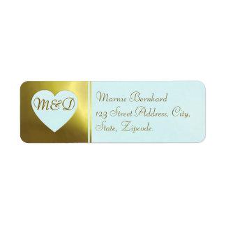 Hochzeits-Adressen-Etikett | tadellose goldene Rücksendeetiketten