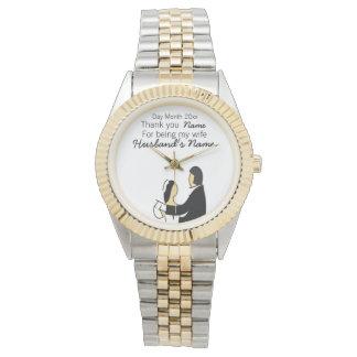 Hochzeits-Andenken, Geschenke, Werbegeschenke für Armbanduhr
