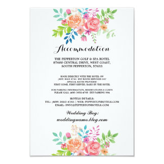 Hochzeits-Anpassung kardiert Wasserfarbe-Einsätze Karte