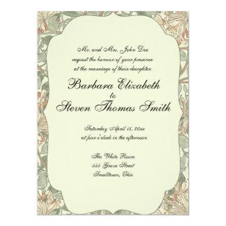 Hochzeits-antikes Geißblatt fertigen Einladung