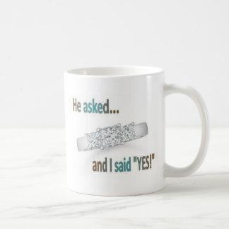 Hochzeits-Antrag Kaffeetasse