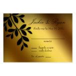 Hochzeits-Antwort-Karten-GoldBlätter Visitenkarte
