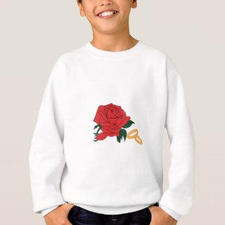 Hochzeits-Bänder u. Rose Sweatshirt