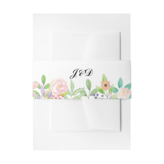 Hochzeits-Bauch-Band-Wasserfarbe-Umschlag mit Einladungsbanderole