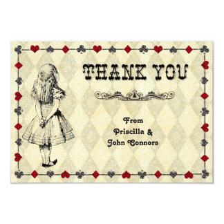 Hochzeits-Behälter, den Sie kardieren, Alice im 8,9 X 12,7 Cm Einladungskarte