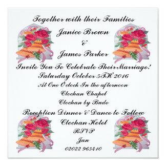 Hochzeits-Bell-Sammlungs-Einladungs-Karte Karte