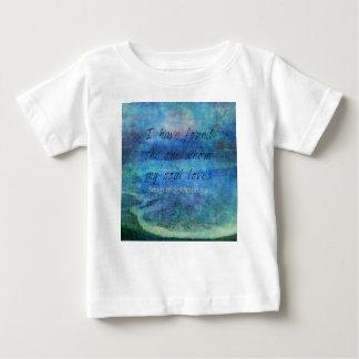 Hochzeits-Bibel-Vers-Kunst-Schriftsozeanmeer Baby T-shirt