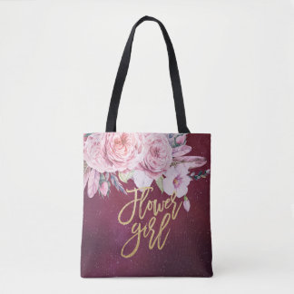 Hochzeits-Blumen-Mädchen-Blumenfeder-Burgunder-Rot Tasche