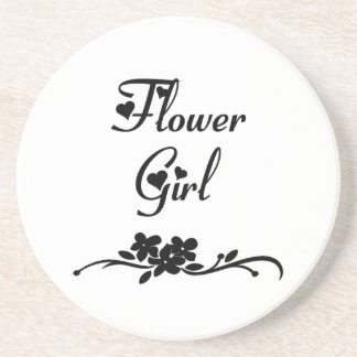 Hochzeits-Blumen-Mädchen Getränkeuntersetzer
