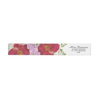 Hochzeits-Blumen-Rücksendeadresse-Aufkleber