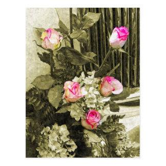 Hochzeits-Blumenstrauß Postkarte