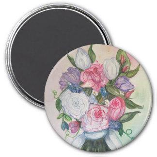 Hochzeits-Blumenstraußmagnet Runder Magnet 7,6 Cm