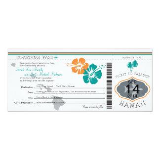 Hochzeits-Boarding-Durchlauf nach Hawaii Individuelle Einladung