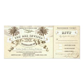 Hochzeits-Boardingdurchlauf etikettiert 10,2 X 23,5 Cm Einladungskarte