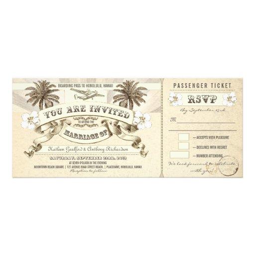 Hochzeits-Boardingdurchlauf etikettiert Personalisierte Ankündigungskarten
