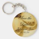 Hochzeits-Braut-Bräutigam-Namen u. Datum Keychain Schlüsselanhänger