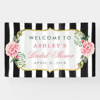 Hochzeits-Brautparty-romantische Blumenstreifen Banner