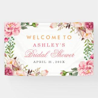 Hochzeits-Brautpartyromantisches Chic-Blumen Banner
