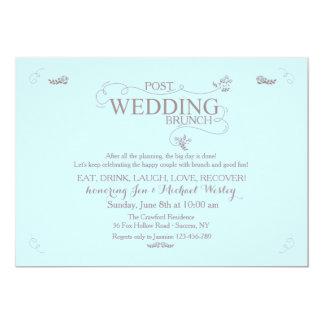 Hochzeits-Brunch in der blauen Einladung
