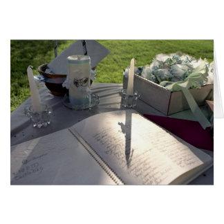 Hochzeits-Buch - Anmerkungskarte Karte