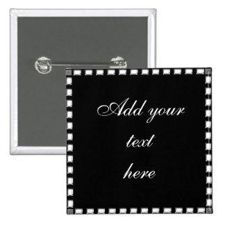 Hochzeits-Button Druckkristallsteingrenze Quadratischer Button 5,1 Cm