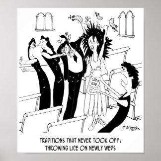 Hochzeits-Cartoon 9193 Poster