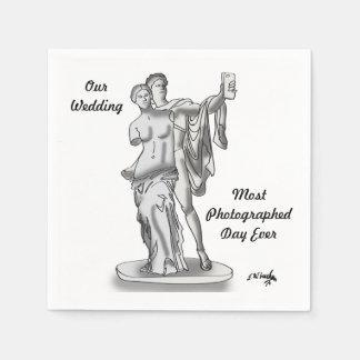 Hochzeits-Cartoon 9417 Papierserviette