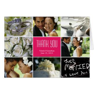 Hochzeits-Collage danken Ihnen, - Fuchsie zu kardi Karten