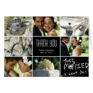 Hochzeits-Collage danken Ihnen, - Schwarzes zu Mitteilungskarte