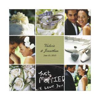 Hochzeits-Collage eingewickelte Leinwand - Leinwanddrucke