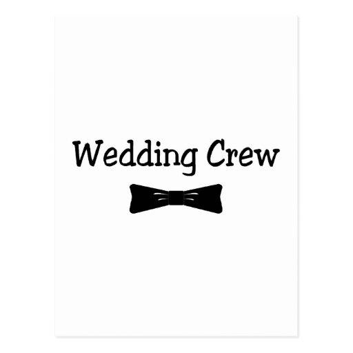 Hochzeits-Crew Bowtie Postkarte