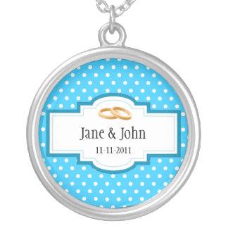 Hochzeits-Datum Halskette Mit Rundem Anhänger