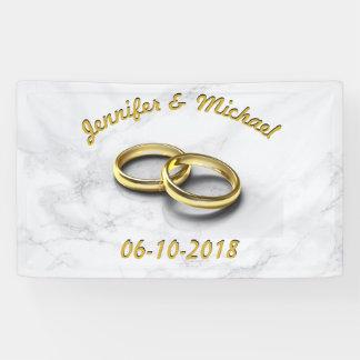 Hochzeits-Datums-Braut u. Bräutigam-kundengerechte Banner