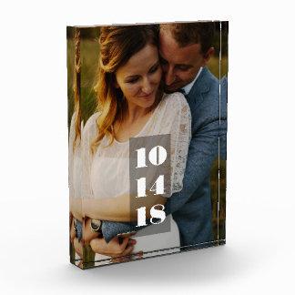 Hochzeits-Datums-Foto Fotoblock
