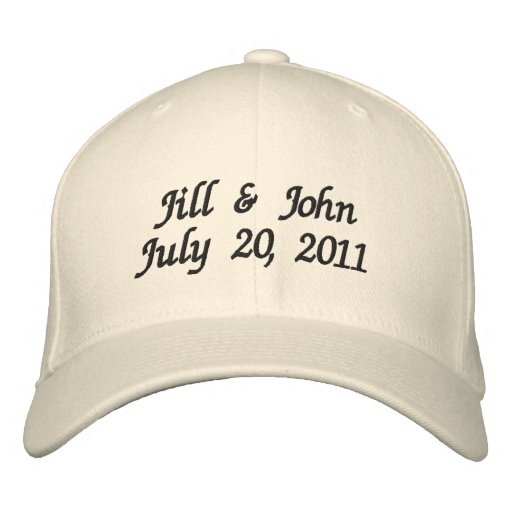 Hochzeits-Datums-Paar nennt Mitteilungs-Hut Besticktes Baseballcap