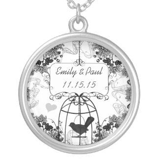 Hochzeits-DatumVintage Halskette Mit Rundem Anhänger