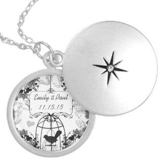Hochzeits-DatumVintage Runde Medaillon Halskette