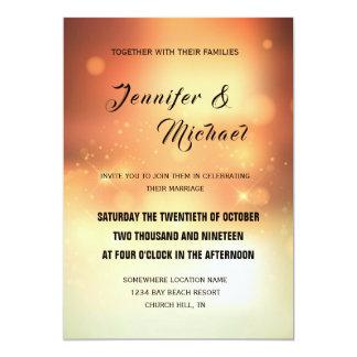 Hochzeits-Einladung Bokeh Hintergrund Karte