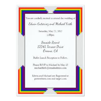 Hochzeits-Einladung des Regenbogen-LGBT 16,5 X 22,2 Cm Einladungskarte
