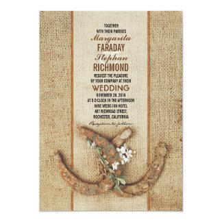 Hochzeits-Einladung mit Hufeisen 12,7 X 17,8 Cm Einladungskarte
