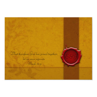 Hochzeits-Einladung mit Siegel 12,7 X 17,8 Cm Einladungskarte