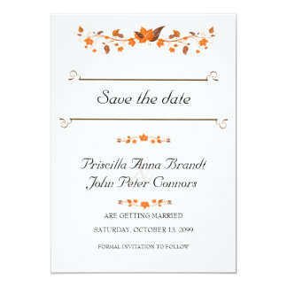 Hochzeits-Einladung Save the Date, Karte