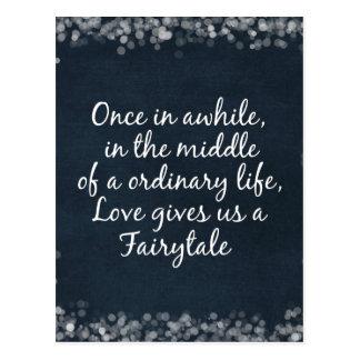 Hochzeits-Einladungen mit Liebe-Zitat Postkarte