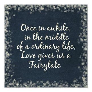 Hochzeits-Einladungen mit Liebe-Zitat Quadratische 13,3 Cm Einladungskarte